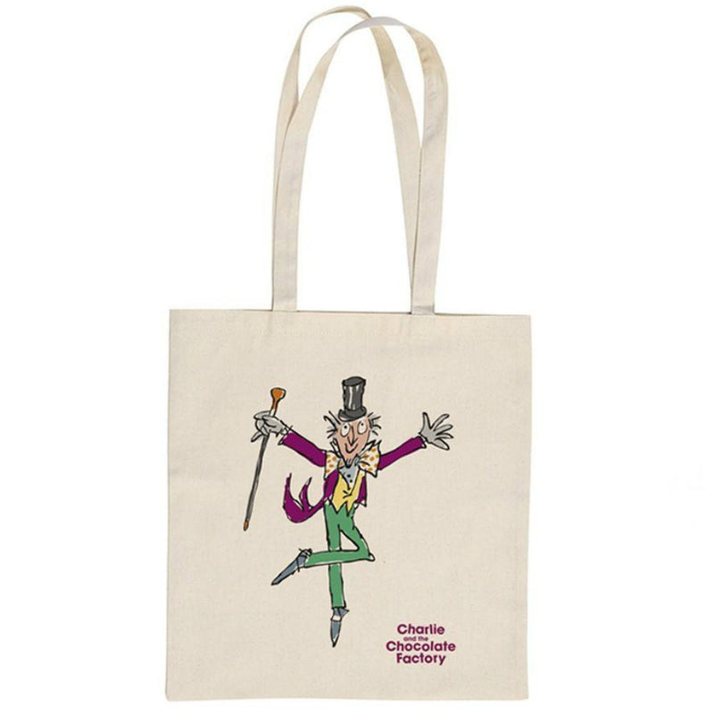 Roald Dahl Charlie and the Chocolate Factory Willy Wonka Extraordinary Chocolate Maker Tote Shopper Bag