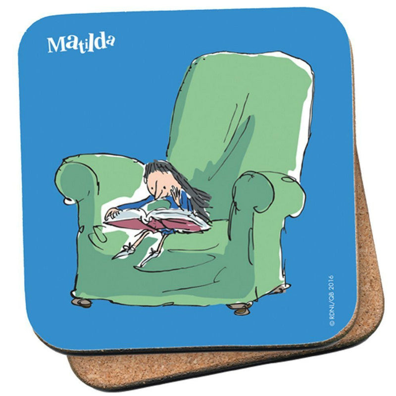Roald Dahl Matilda Reading Chair Single Coaster