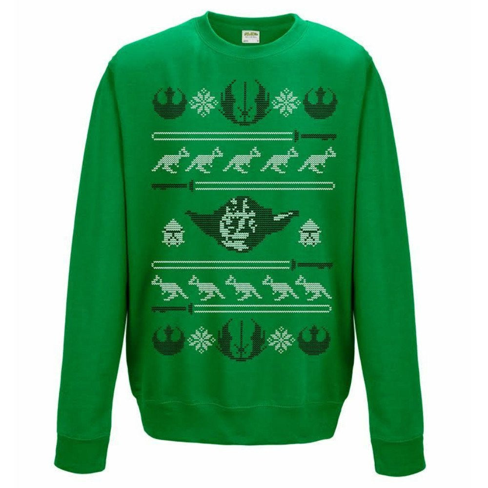 Star Wars Yoda Green Unisex Festive Christmas Sweater