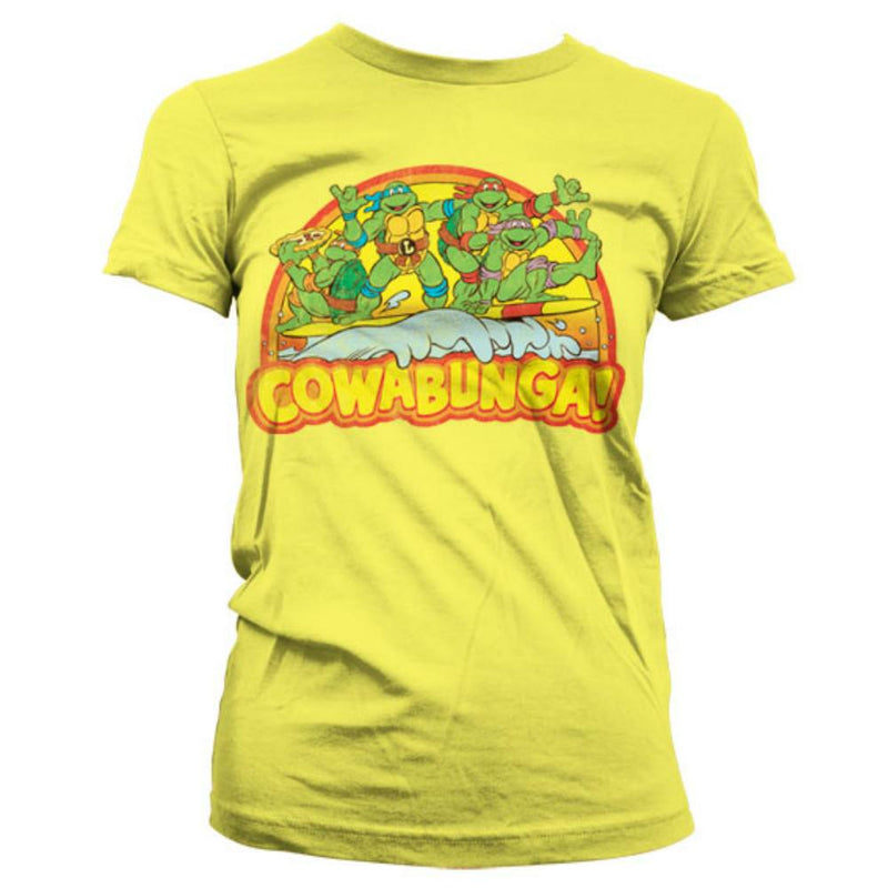 Teenage Mutant Ninja Turtles Cowabunga LAdies Fitted T-Shirt