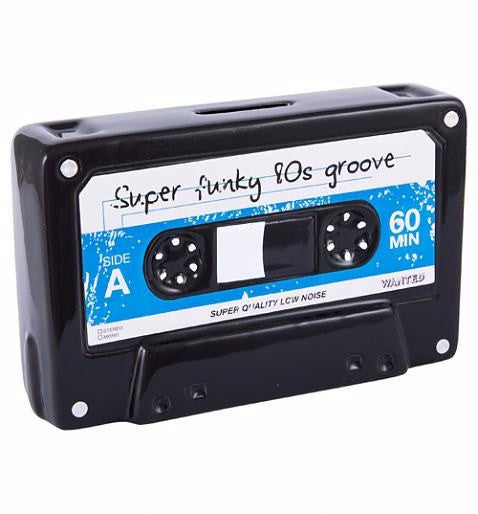 Retro Cassette Tape Super Funky 80s Groove Ceramic Boxed Moneybank box