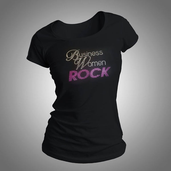 Business Women Rock #2 Rhinestone Shirt