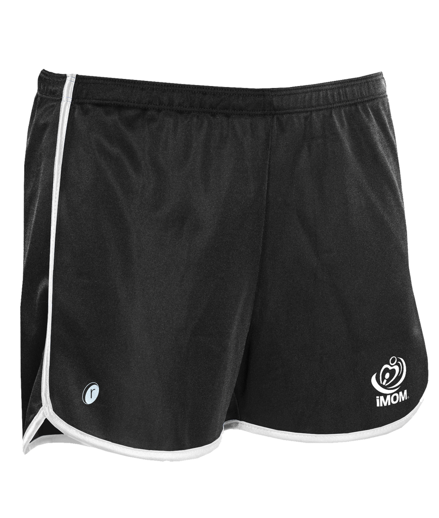 iMOM Shorts (Black with White trim)