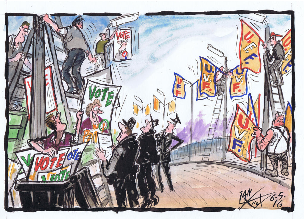 Placards Down Flags Up