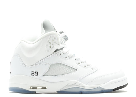 "AIR JORDAN 5 RETRO BG (GS) ""WHITE METALLIC"""
