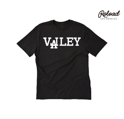 """VALLEY"" CREWNECK TEE - (BLACK/WHITE)"