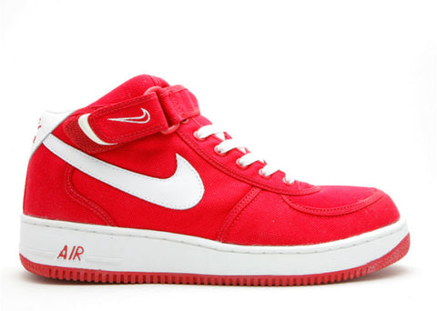 "NIKE AIR FORCE 1 MID CANVAS B ""RED"""