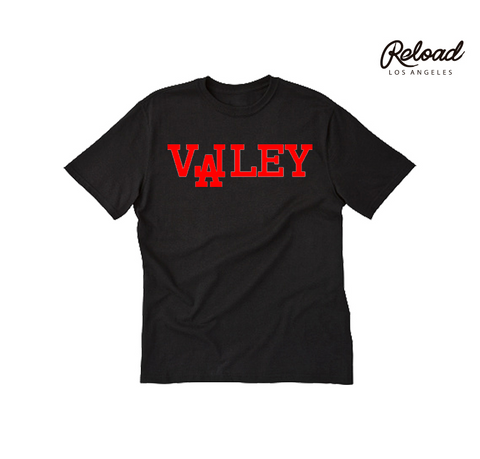 """VALLEY"" CREWNECK TEE - (BRED)"