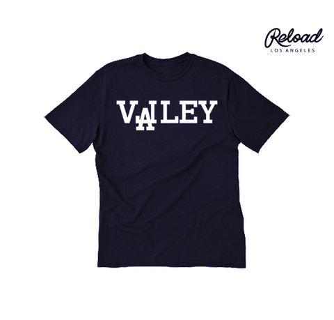 """VALLEY"" CREWNECK TEE - (NAVY)"