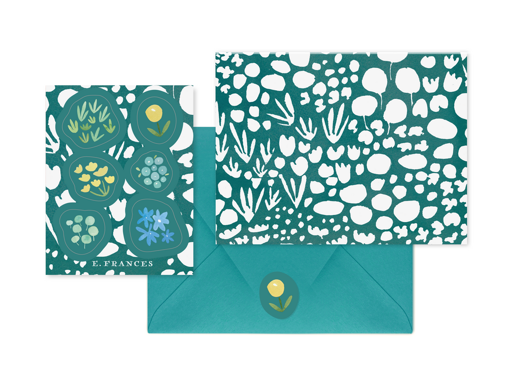 Green Meadow Notecard + Sticker Set
