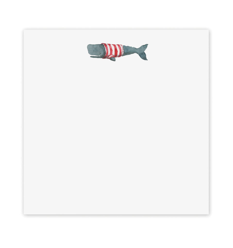 Stripey Whale Notepad