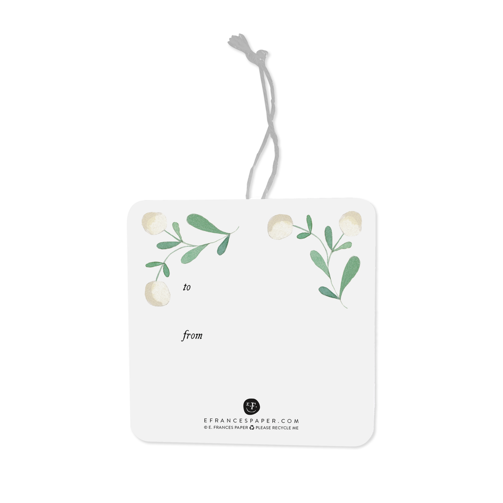 White Berries Gift Tags