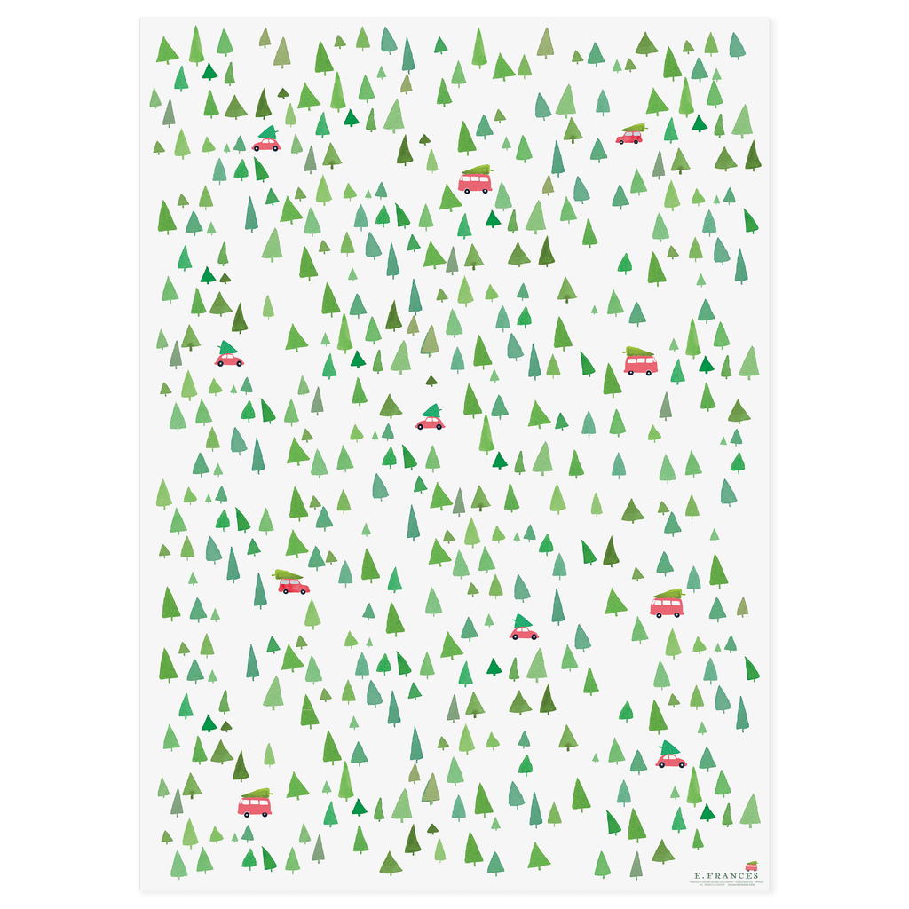 Holiday Trees Gift Wrap (Roll of 3, Qty)