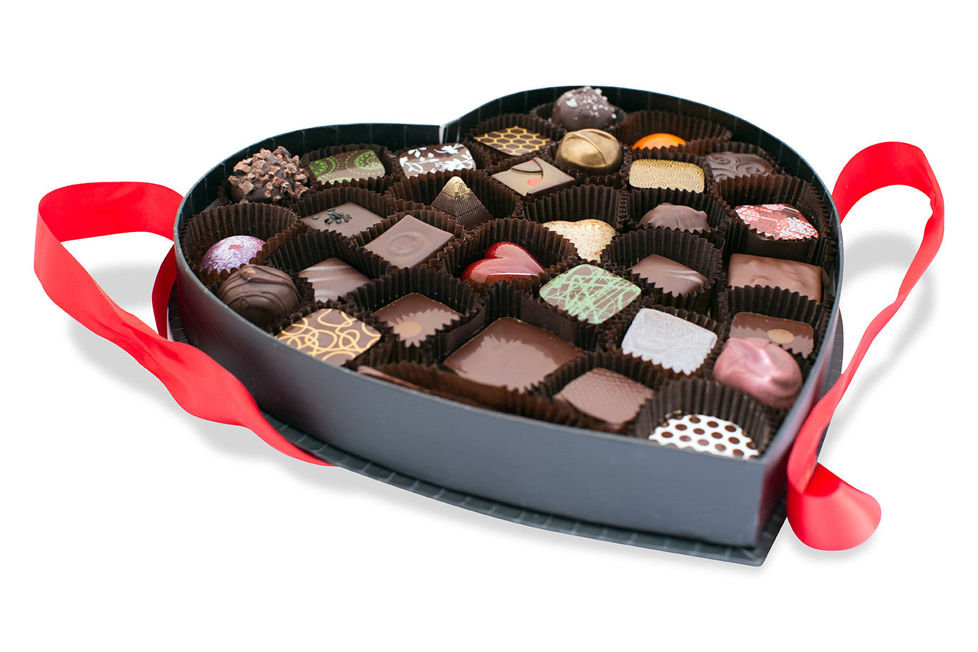 Big Love Heart Chocolate Box 32 pc - Pick Me Up Chocolate