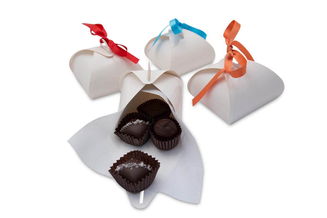 Chocolate Selections for Parties: Chocolate Truffle Favor Boxes ...