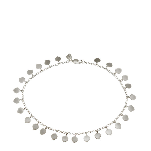 Sterling Silver Full Lotus Petal Anklet