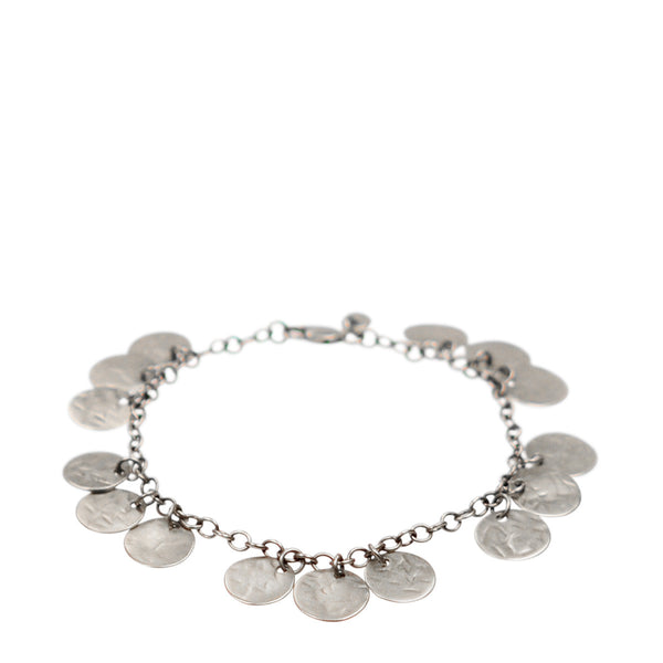 Sterling Silver Small Sequin Bracelet
