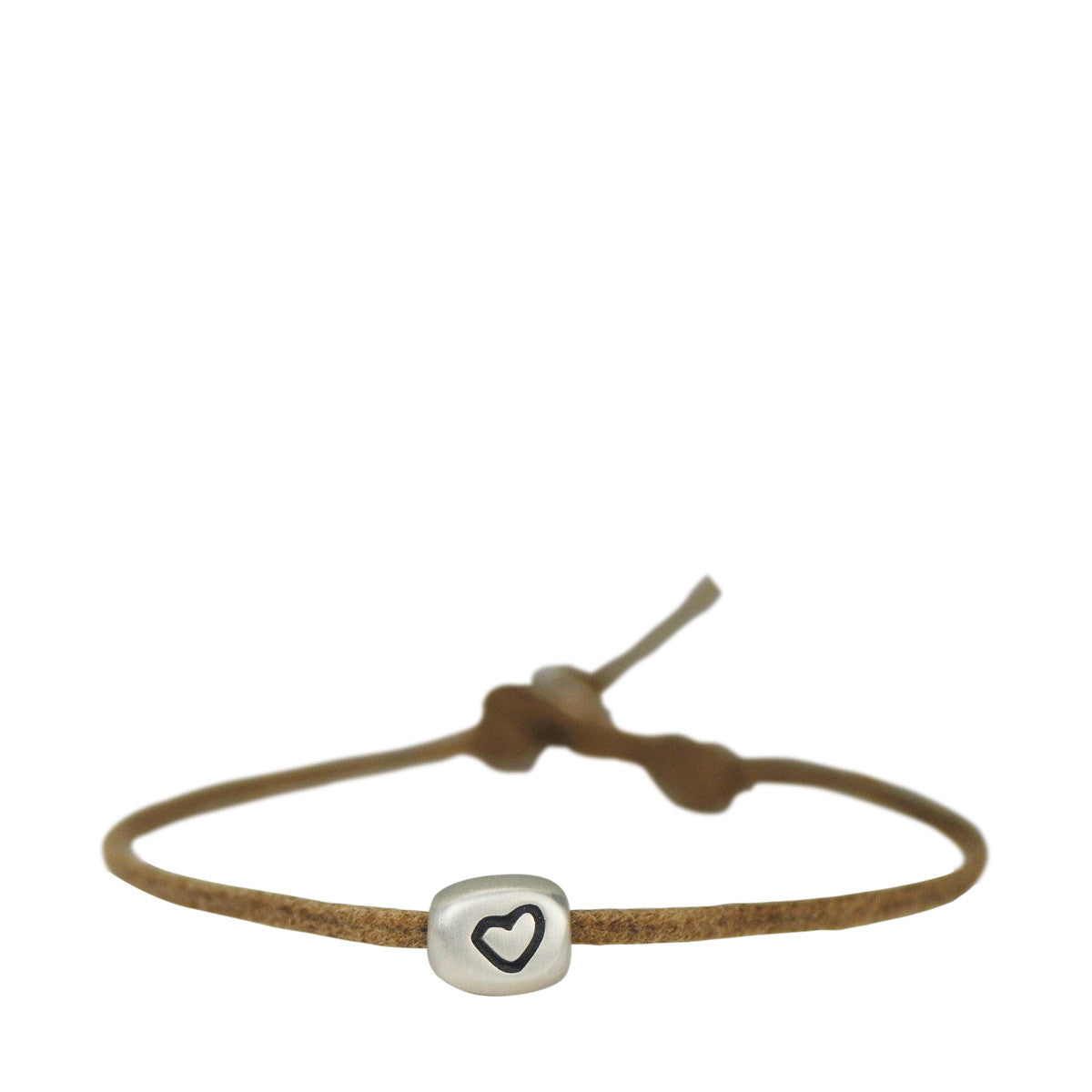 Sterling Silver Set Heart Bracelet