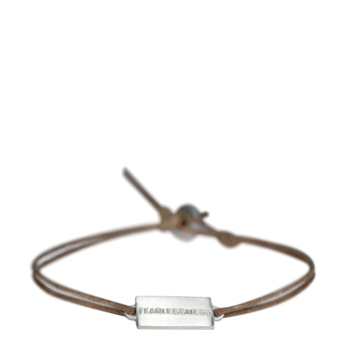 Men's Sterling Silver Joyful Heart Fearlessness Bracelet on Cord