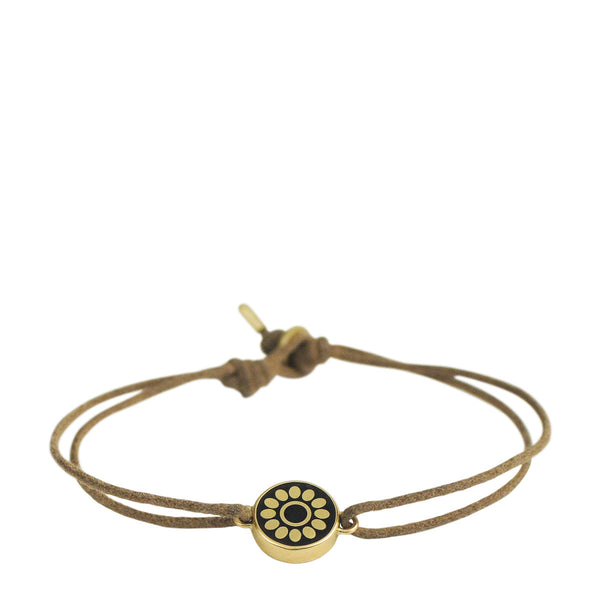 18K Gold Small Ebony Flower Bracelet