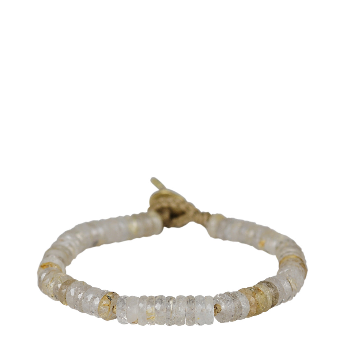 18K Gold Rutilated Quartz Tyre Bracelet