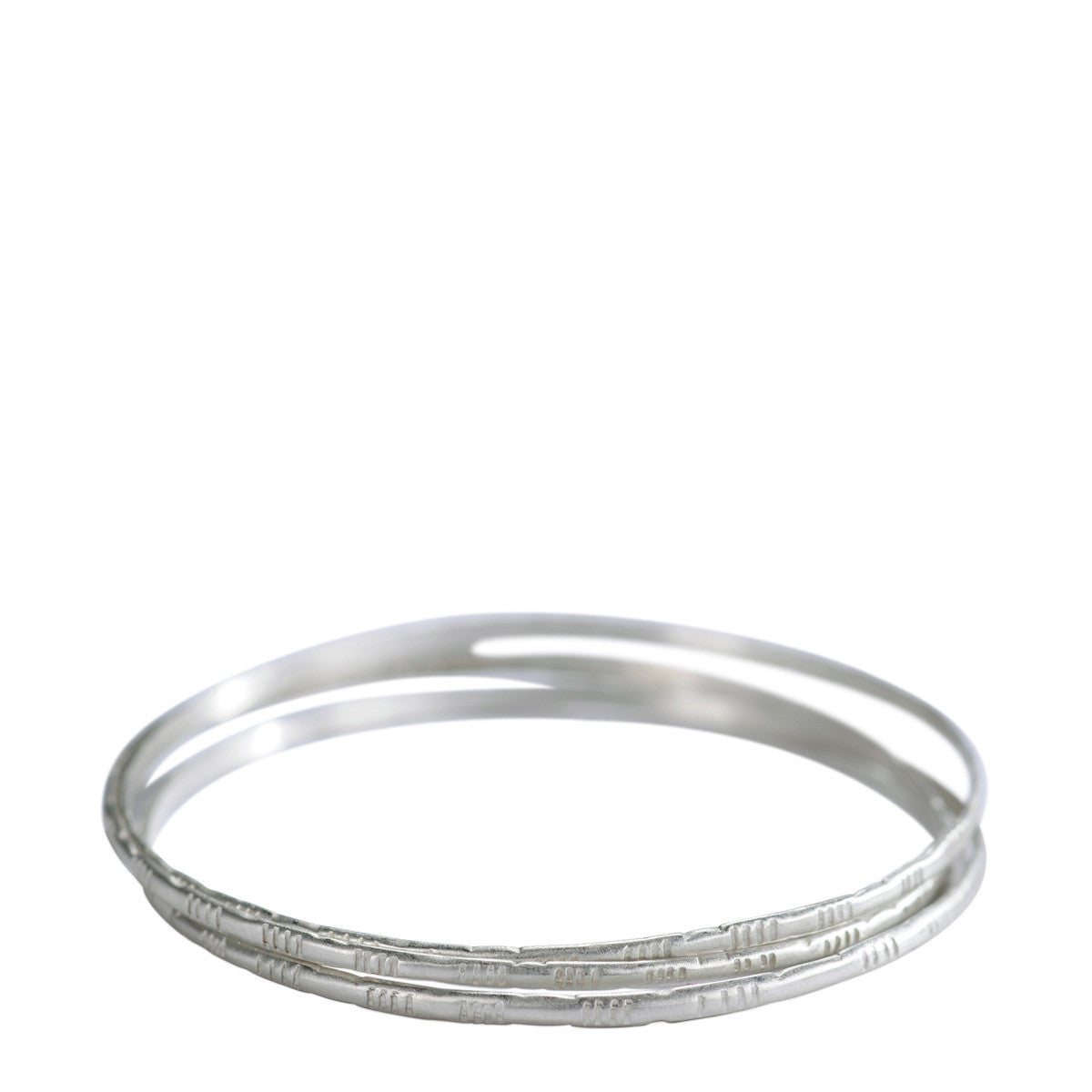 Sterling Silver Moroccan Bangles (Set of 3)