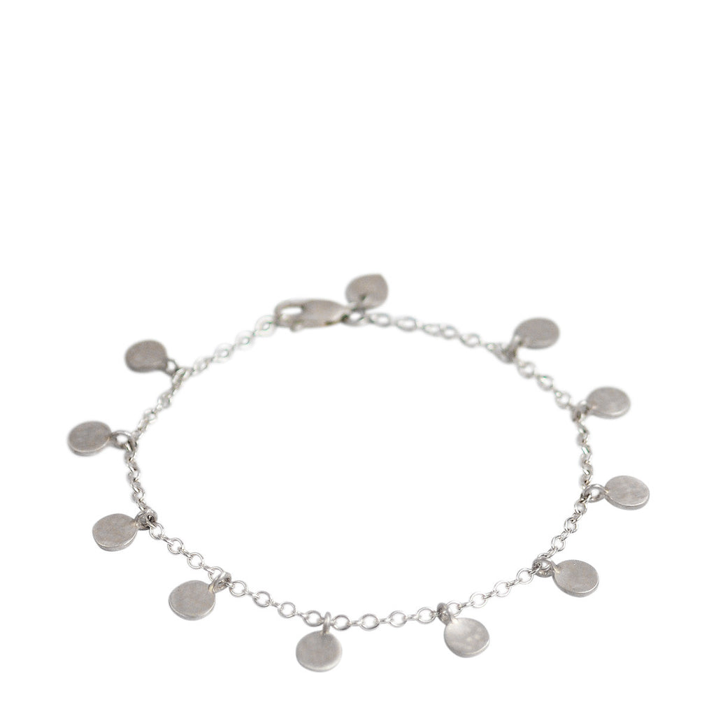 Sterling Silver Hammered Disc on Chain