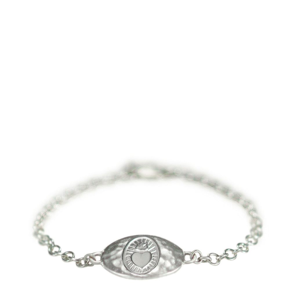 Sterling Silver Charity ID Bracelet on Chain