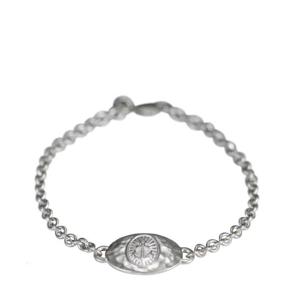 Sterling Silver Hope ID Bracelet on Chain