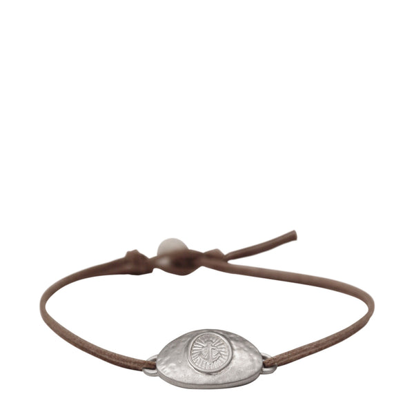 Men's Sterling Silver Hope ID Bracelet on Cord