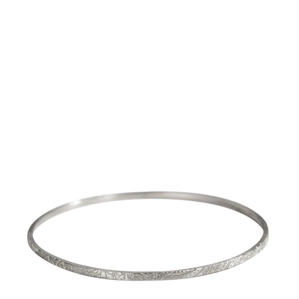 Sterling Silver Paisley Bangle
