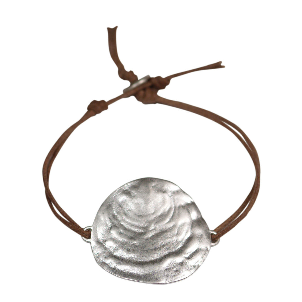 Sterling Silver Large Shell Bracelet
