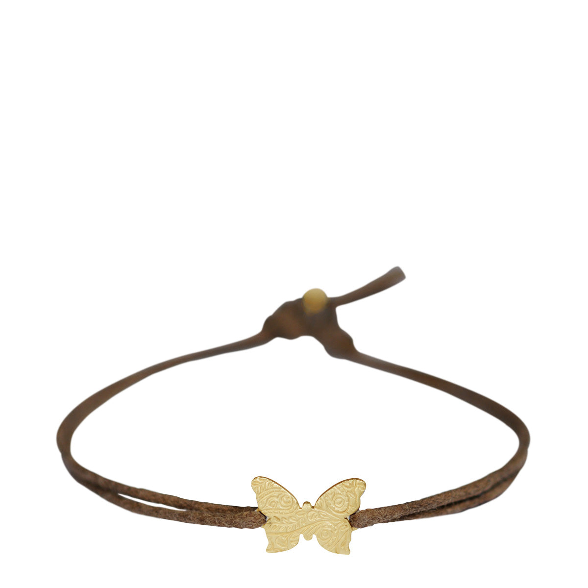 10K Gold Paisley Butterfly Bracelet on Cord