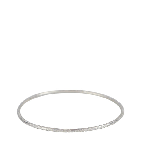 Sterling Silver Fine Paisley Bangle