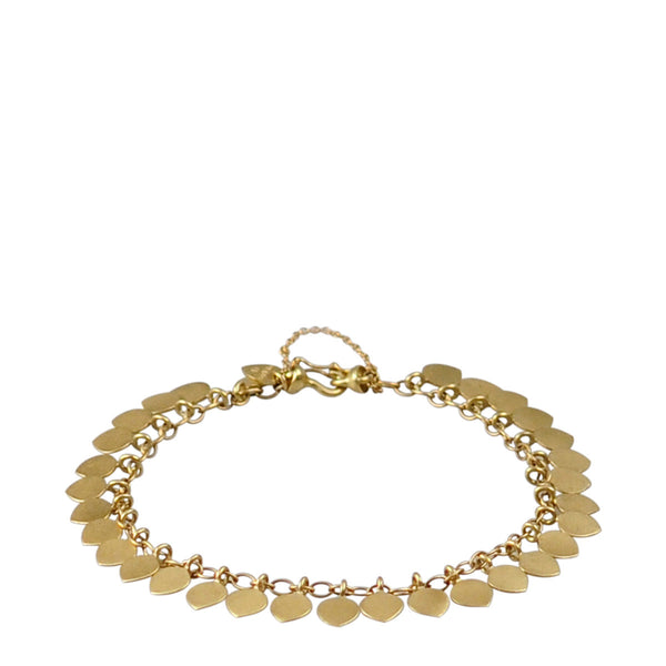 18K Gold Full Lotus Petal Bracelet