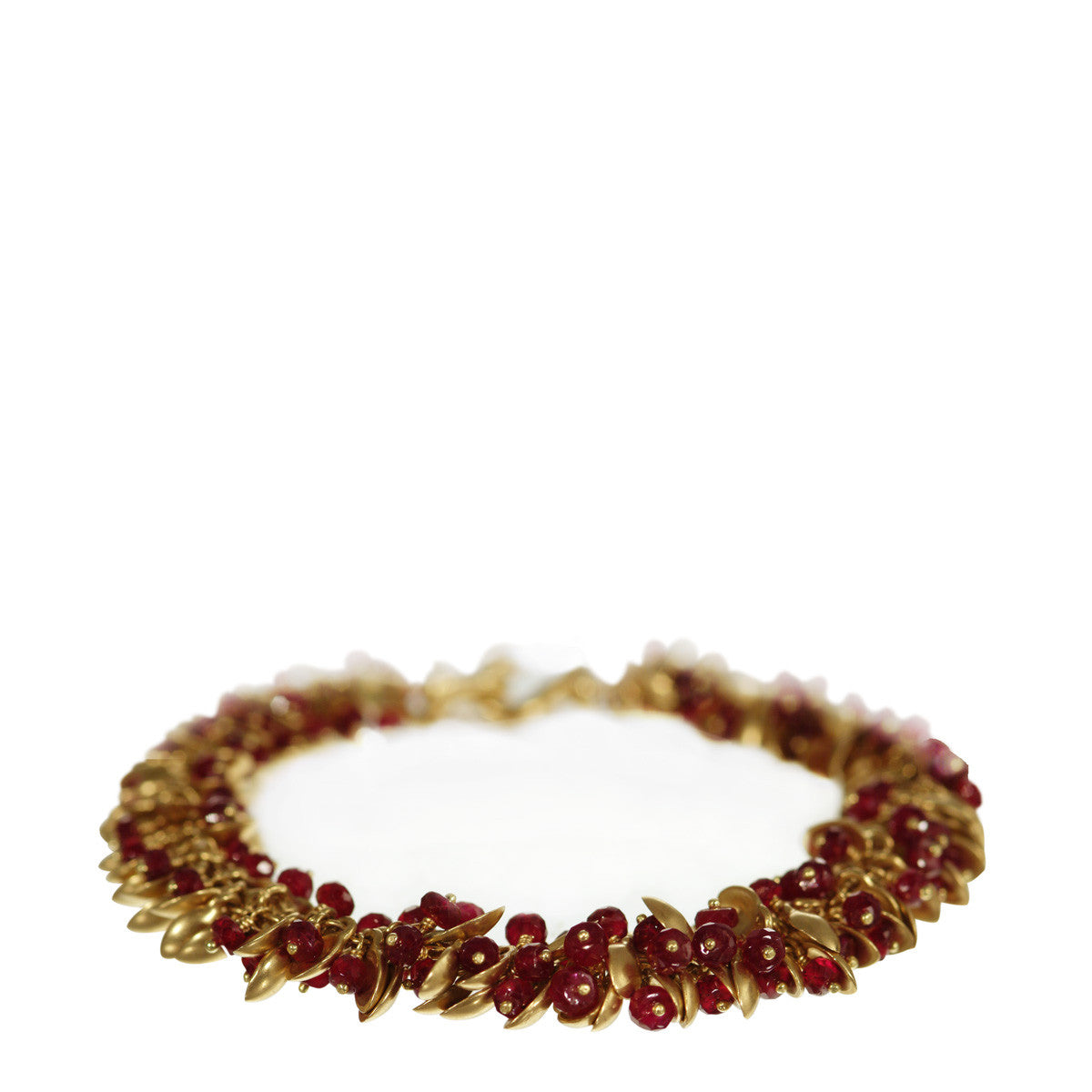 18K Gold Baby Pod Bracelet with Ruby