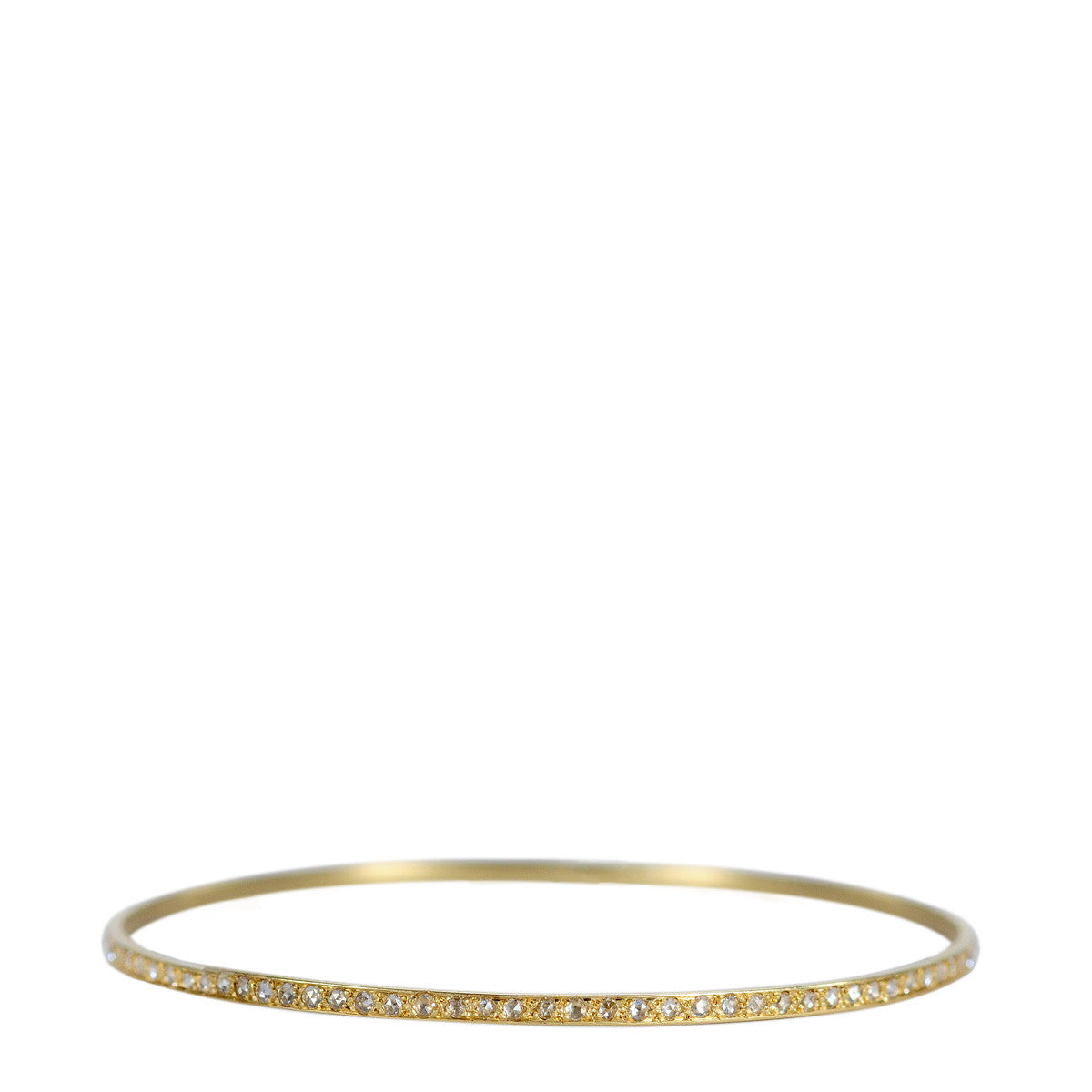 18K Gold Pave Diamond Bangle