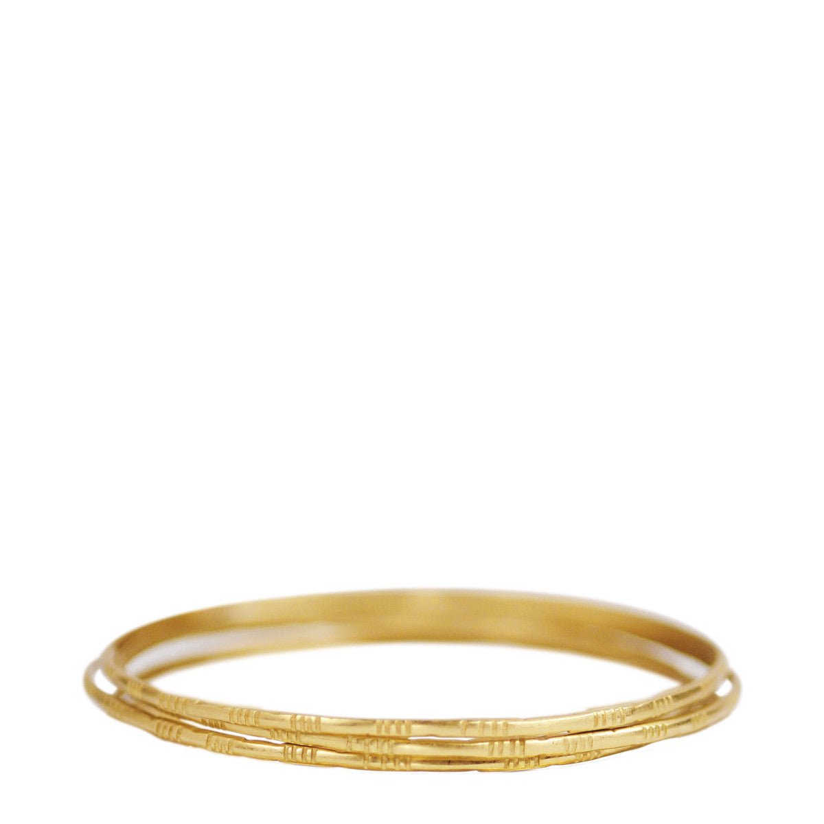 18K Gold Moroccan Bangles (Set of 3)