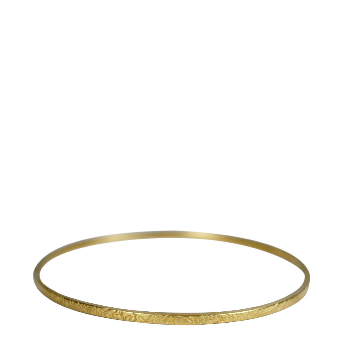 18K Gold Paisley Bangle