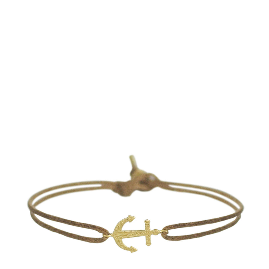 18K Gold Paisley Anchor Bracelet