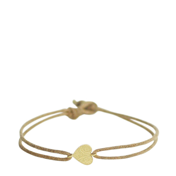 18K Gold Small Paisley Heart Bracelet
