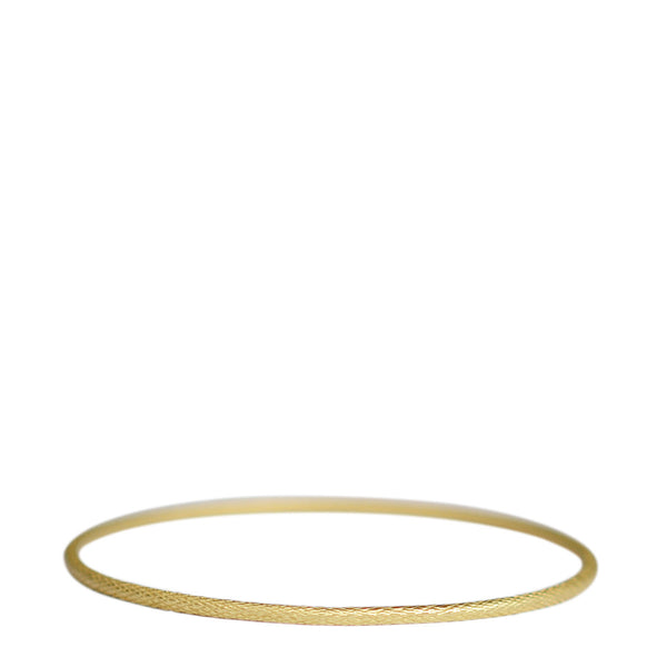 18K Gold Fine Fish Scale Bangle
