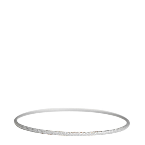 Sterling Silver Fine Fish Scale Bangle