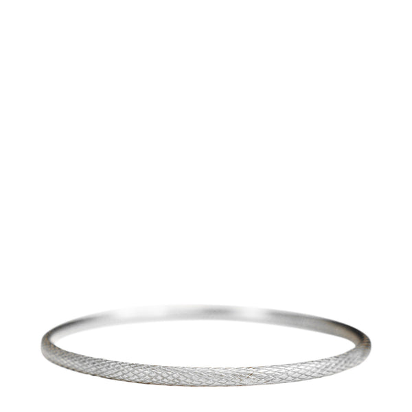 Sterling Silver Wide Fish Scale Bangle