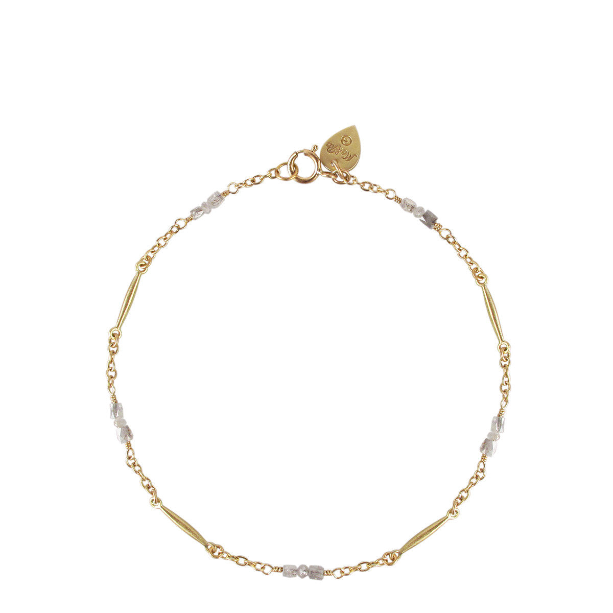 18K Gold Lure Bracelet with Opaque Diamonds