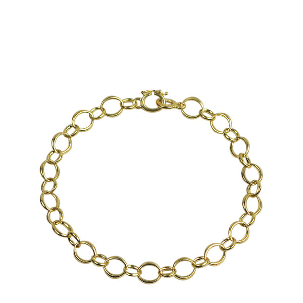 18K Gold Small Heavy O' Chain Bracelet