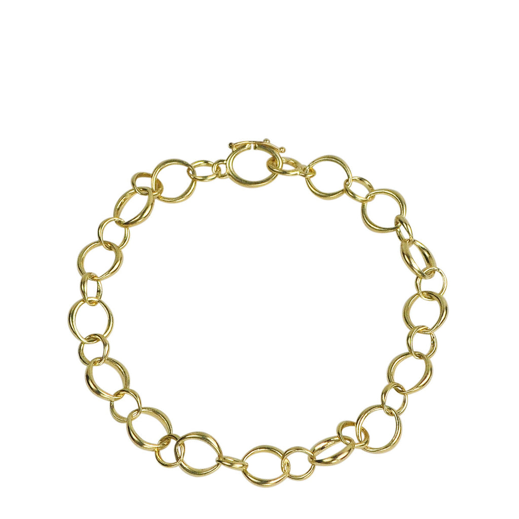 18K Gold Medium Heavy O' Chain Bracelet