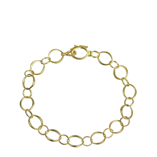 18K Gold Medium Fine O' Chain Bracelet
