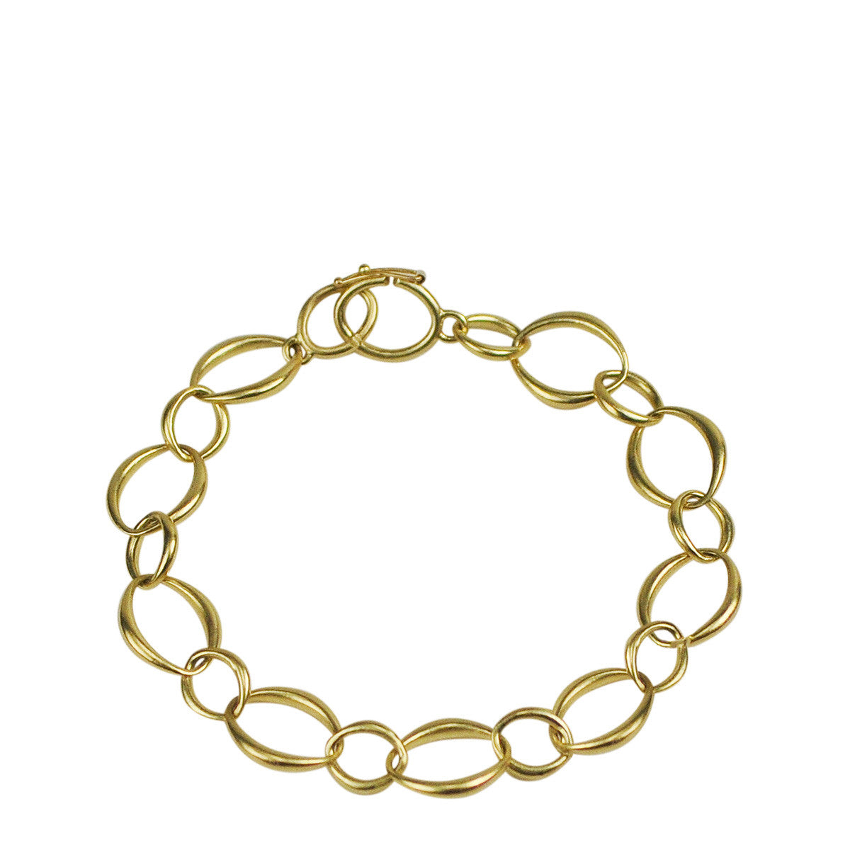 18K Gold Large Heavy O' Chain Bracelet