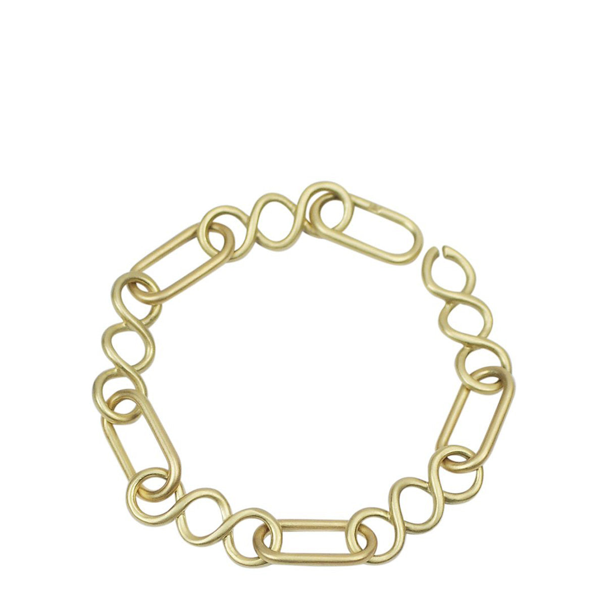 18K Gold Large Heavy Oval Chain Bracelet